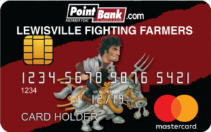 Lewisville High School Logo Debit Card - pb-lewisville-fighting-farmers-debit-card-300x188