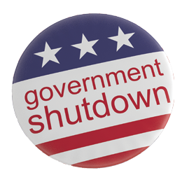 Government Shutdown Badge